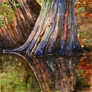 cypress-tree-reflection-ciocan-tudor-cosmin