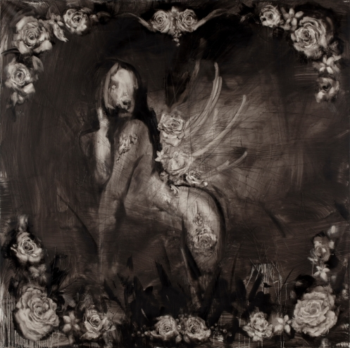 painting on canvas by Antony Micallef